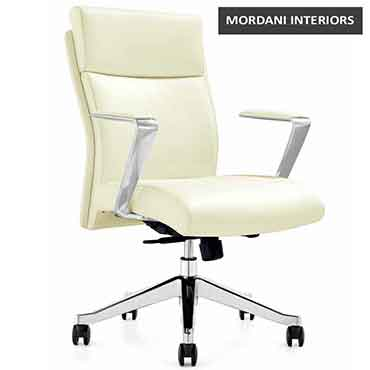 Eiffel Mid Back Leather Office Chair