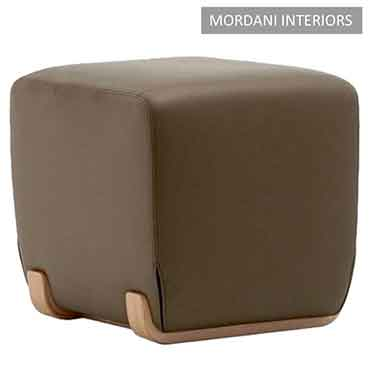 Elvin Brown Square Pouffe Stool