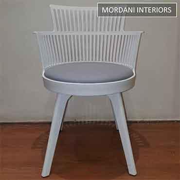 Evonne White Cafe Chair