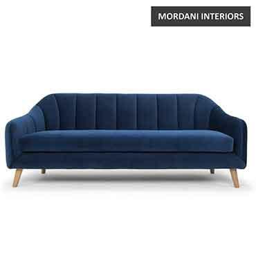 Filbert Navy Blue Designer Sofa