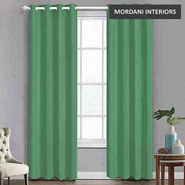 Green Cotton Curtain