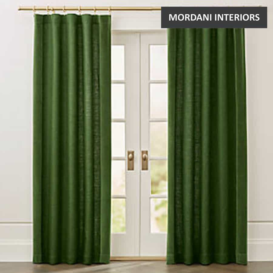 Green Linen Curtain