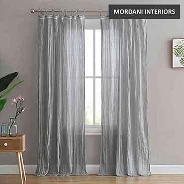 Light Grey Cotton Curtain