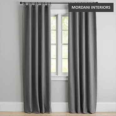 Morning Grey Cotton Curtain