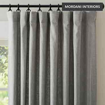 Grey Linen Curtain