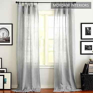 Smoke Grey Sheer Curtain