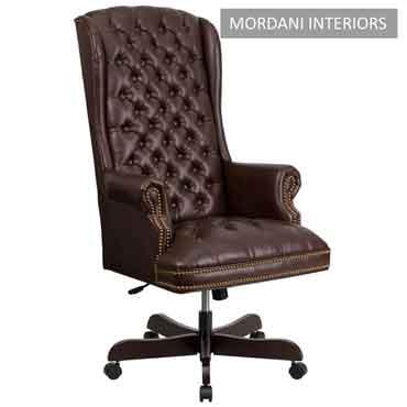 Kingdom Brown High Back 100% Genuine Leather Chair