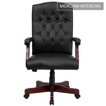 Lord Black High Back 100% Genuine Leather Chair
