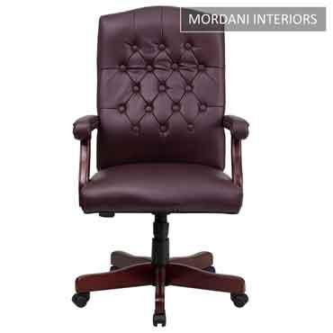 Lord Burgundy High Back 100% Genuine Leather Chair