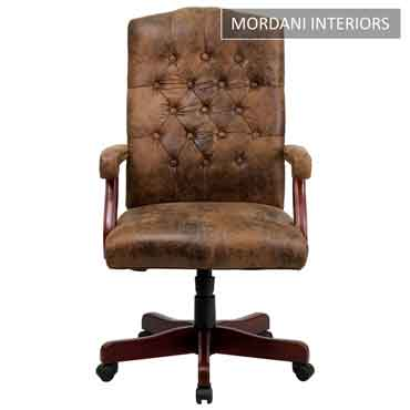 Lord Vintage Brown High Back 100% Genuine Leather Chair