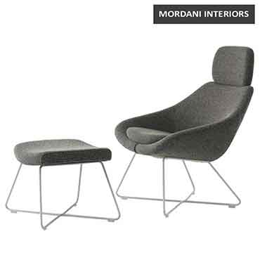 Lotus Plus Lounge Chair With Footrest