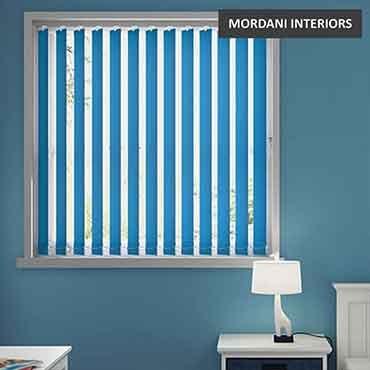 Marine Blue Vertical Roller Blind