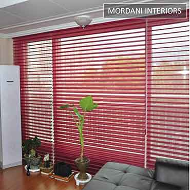 Maroon Triple Shade Blind