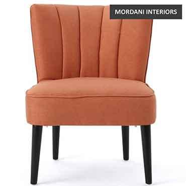 Melrose Orange Accent Chair