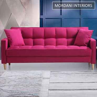 Mosipa 2 Seater Pink Designer Sofa