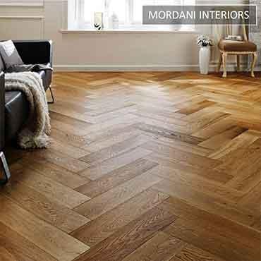Oak Berlin Herringbone Engineered Wooden Flooring