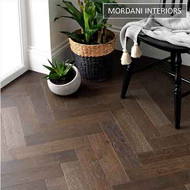 Oak Cognac Herringbone Engineered Wooden Flooring