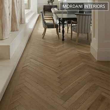 Oak Sea Mist Herringbone Engineered Wooden Flooring
