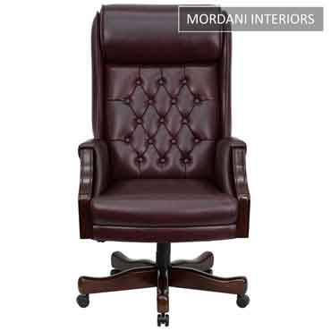 Prime Minister Burgundy High Back 100% Genuine Leather Chair