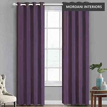 Purple Cotton Curtain