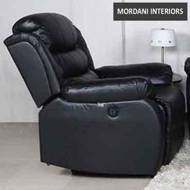 Rosson Black Recliner Single Seater Sofa