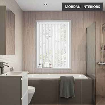 Silvery White Vertical Roller Blind
