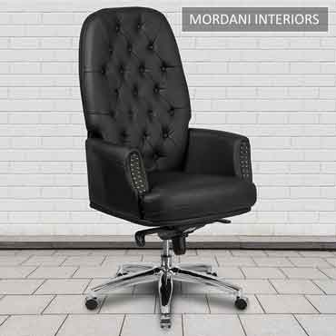 Supremos Black High Back 100% Genuine Leather Chair