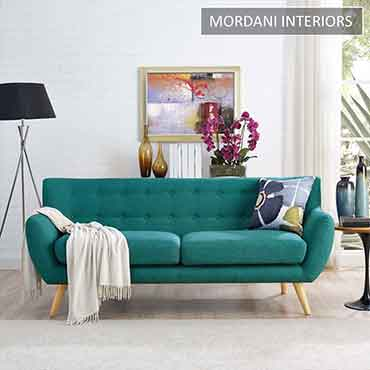 Swedish Ivy Teal Blue Designer Two Seater Sofa