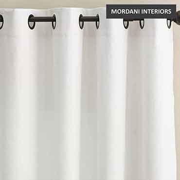 White Linen Curtain